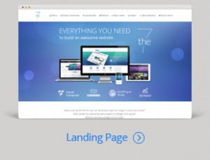 Dream landing page - website theme and design template