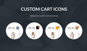 Flat custom shopping cart - website theme and design template