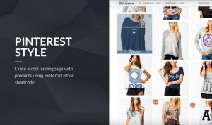 Flat pinterest style page - website theme and design template