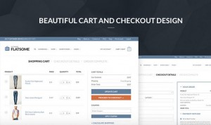 Flat cart and checkout - website theme and design template