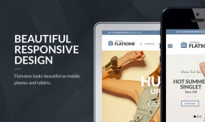 Flat responsive design- website theme and design template