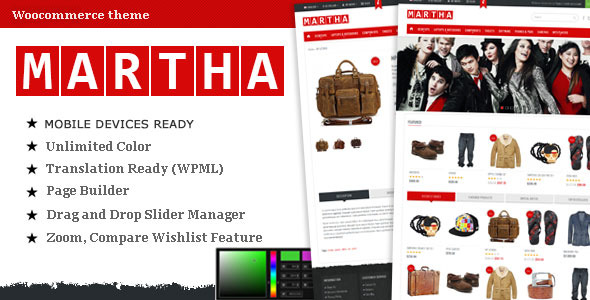 Martha woo commerce shopping theme