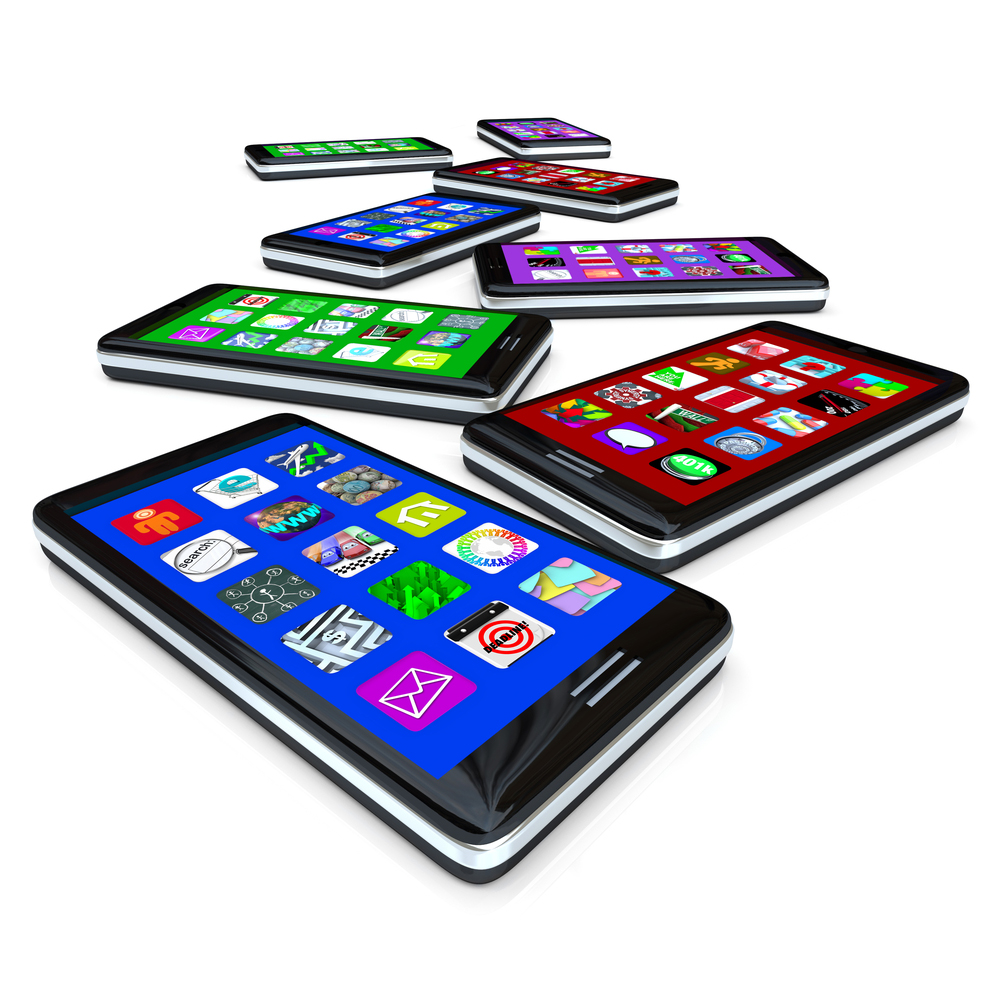 Mobile phone and tablets for connecting online.