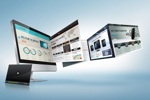 Responsive website design templates and development options.