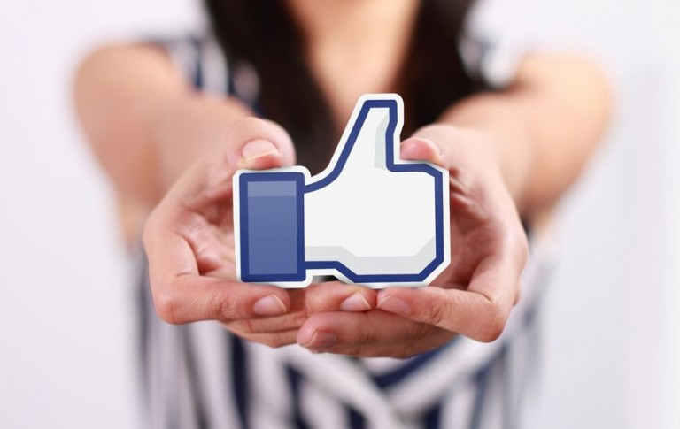 Facebook user like for business pages.