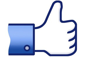 The facebook like thumbs up.