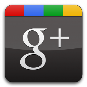 Google+ social media, plus one.