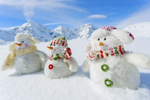 Fun Snowmen ready for the holiday season.