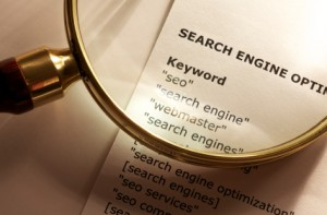 Researching keywords for your web pages.