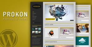 Prokon portfolio responsive wordpress theme.