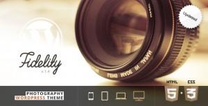 Fidelity photography wordpress theme.