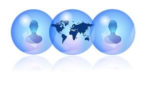 Linkedin connections across the globe.