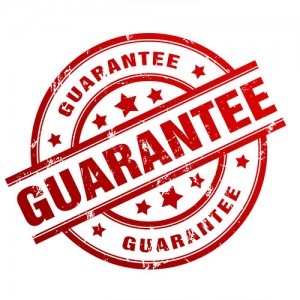 Website guarantee for design and online content writing.