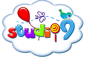 Kids studio9 logo design