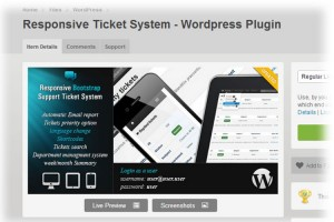 Responsive ticket helpdesk software for wordpress.