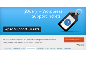 Support ticket software for wordpress.