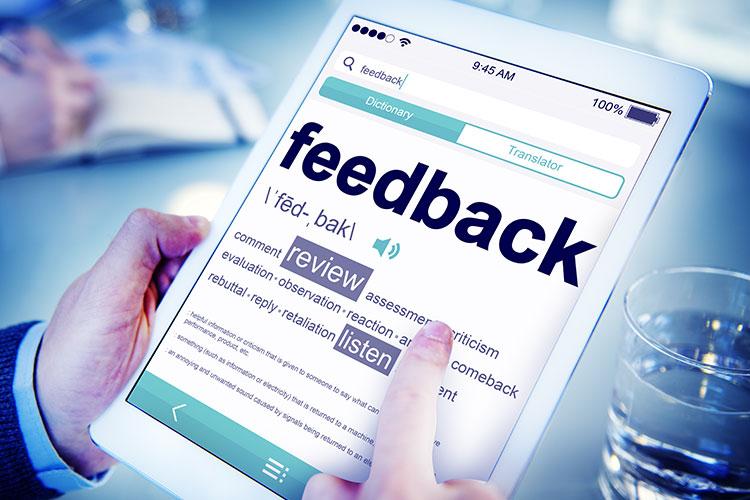 Customers surveys and managing feedback.