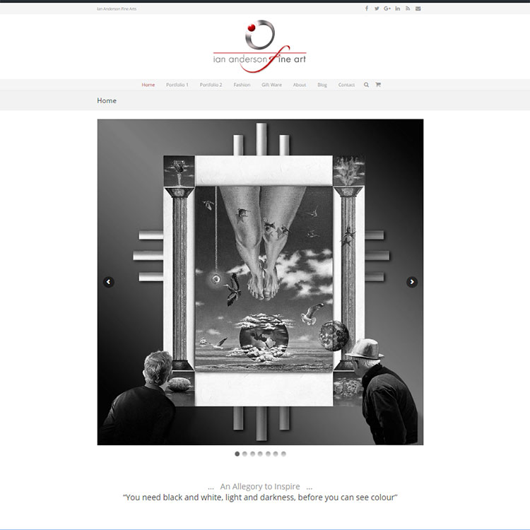 Fine art, Our portfolio of web designs.