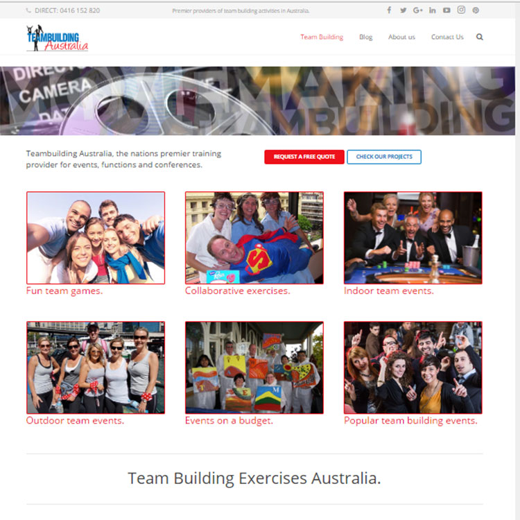 Team Building, Our portfolio of web designs.