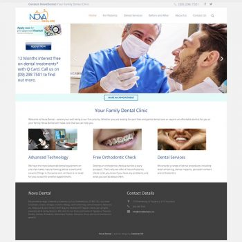 Nova Dental, Our portfolio of web designs.
