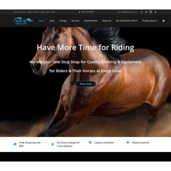 Tackup riding, Our portfolio of web designs.