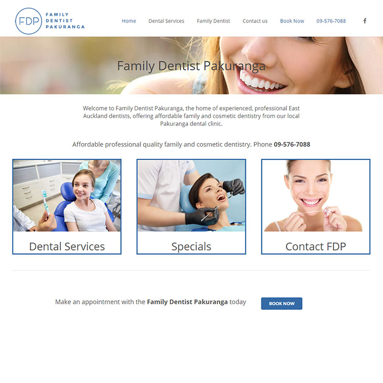 Family dentist, Our portfolio of web designs.