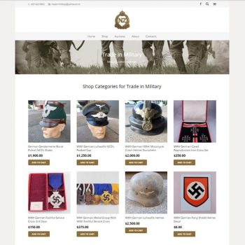 Trade in Military, Our portfolio of web designs.