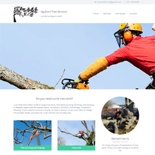 Tree Services, Our portfolio of web designs.