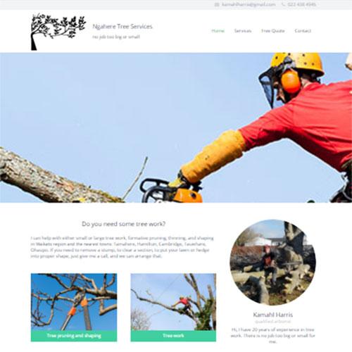 Tree Services, Our portfolio of web designs.