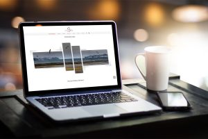 website design on laptop screen