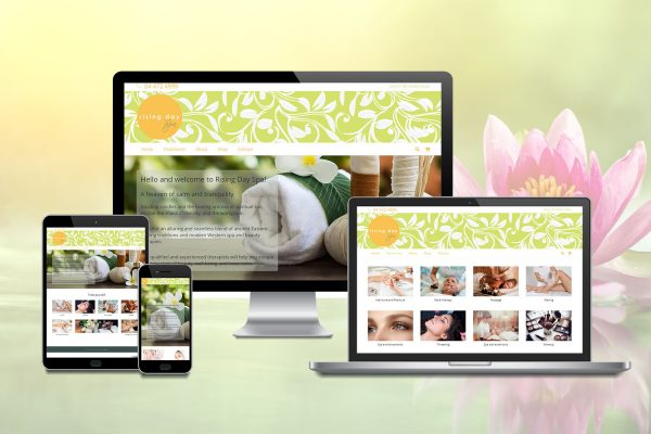 Rising day spa website display