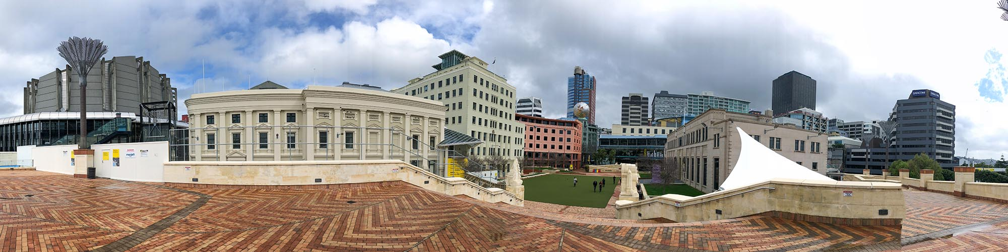 Wellington civic square and CBD.